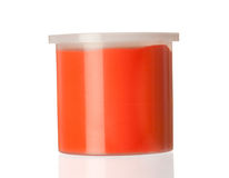 Container of red paint Royalty Free Stock Photography