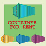 Container for rental Royalty Free Stock Images