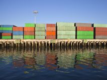 Container Seafront Royalty Free Stock Photo