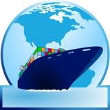 Container-ship Fotos de Stock Royalty Free
