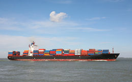 Container ship royalty free stock photos
