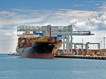 Container ship royalty free stock photo