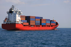 Container Ship. From Istanbul Turkey Royalty Free Stock Photos