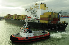 Container ship. Designed for transporting cjntainers Royalty Free Stock Photography