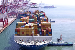 Container harbour Royalty Free Stock Photo