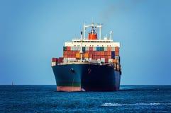 Container ship. Container cargo ship in ocean Stock Photography