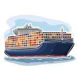 Container ship carrier Royalty Free Stock Photography