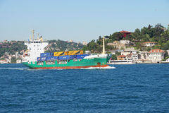 Container ship carries cargo Royalty Free Stock Photography