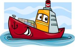 Container ship cartoon illustration royalty free illustration