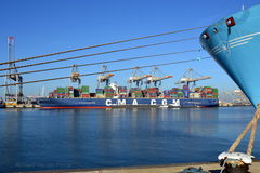 Container ship  CMA CGM Magellan Royalty Free Stock Photography