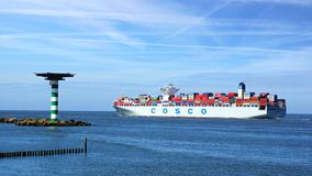 Container Ship COSCO. Stock Images