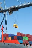Container ship and crane Stock Images