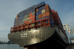 Container ship at dock Royalty Free Stock Images