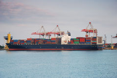 Container ship in dock Royalty Free Stock Photos