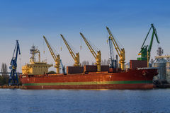 Container Ship on dock Royalty Free Stock Photography