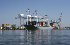 Container ship in dock Melbourne Australia Royalty Free Stock Photo