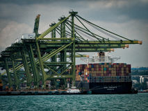 Container ship at the dock Stock Images