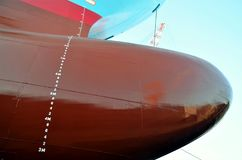 Container ship in the dry dock. stock images