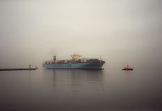Container ship Edith Maersk in Gdansk Poland Royalty Free Stock Photos