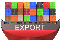 Container ship, export concept Royalty Free Stock Images
