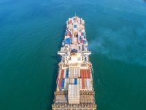 Container ship in export and import business and logistics. Ship stock image