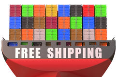 Container ship, free shipping concept Royalty Free Stock Photography