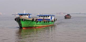 Container ship gets into Saigon Port Royalty Free Stock Photos