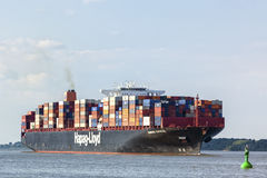 Container Ship Hamburg Express Stock Image