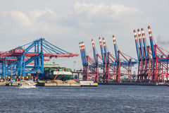 Container ship in Hamburg, Germany, editorial Stock Images