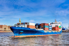 Container ship in Hamburg Royalty Free Stock Photo