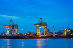 Container ship in the harbor. Royalty Free Stock Photography