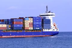 Container ship Stock Image