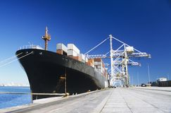 Container Ship In Docks Stock Image