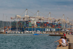 Container ship. Royalty Free Stock Photos