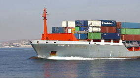 Container ship  stock video