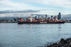 Container Ship In Limbo Royalty Free Stock Photo