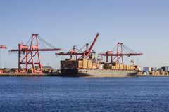 Container Ship at Loading Wharf Royalty Free Stock Photography