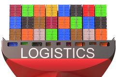 Container ship, logistics concept Royalty Free Stock Images