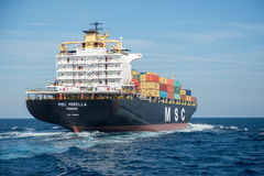 Container ship MSC Mirella Stock Images