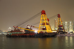 Container ship at night Stock Photos