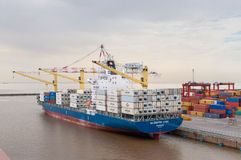 Container Ship in Port of Buenos Aires, Argentina Stock Photo