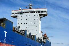 Container ship at the Port of Hamburg (Hamburger Hafen),Germany. HAMBURG, GERMANY - 22 MARCH 2015: Container ship at the Port of Hamburg (Hamburger Hafen) is a Stock Photos