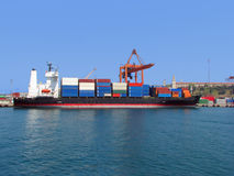Container ship on port Royalty Free Stock Photos