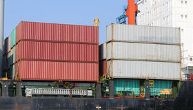 Container Ship in port Stock Images