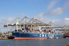 Container ship Port of Rotterdam Stock Photography