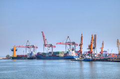 Container ship in port Royalty Free Stock Photography