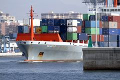 Container ship Renate P Royalty Free Stock Images