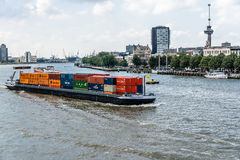 Container ship in Rotterdam. stock photos