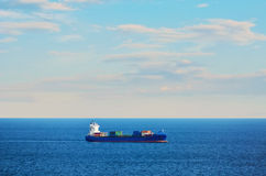 Container Ship in the Sea Stock Photography