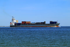 Container ship on the sea Royalty Free Stock Photography